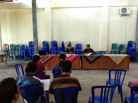 DSL Desa Tunjung : Pertemuan rutin Anggota Kelompok Kerja Desa Sadar Lingkungan (DSL) Desa Tunjung